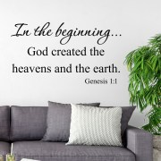 Genesis 1v1 Vinyl Wall Decal