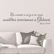 Joshua 24v15 Spanish Vinyl Wall Decal 21