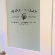 WINE CELLAR Uncork Unwind Vinyl Wall Decal
