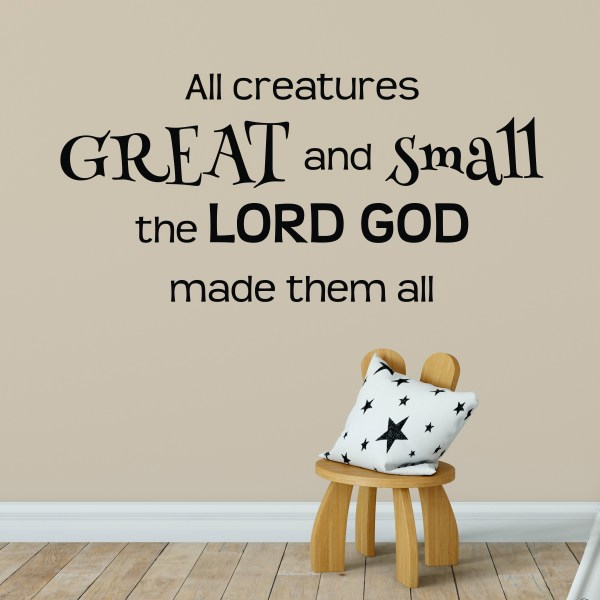 All Creatures Great and Small Vinyl Wall Decal