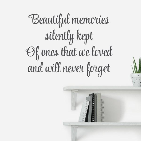 Beautiful Memories Silently Kept Vinyl Wall Decal