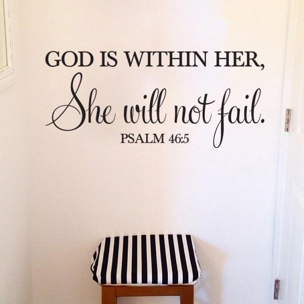 Psalm 46v5 Vinyl Wall Decal 2