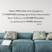 Isaiah 54v17 Spanish Vinyl Wall Decal