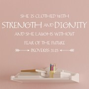 Proverbs 31v25 Vinyl Wall Decal 7