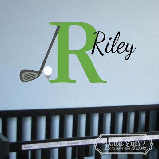 Monogram Golf Sport Theme Vinyl Wall Decal
