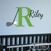 Monogram Golf Sport Theme Vinyl Wall Decal