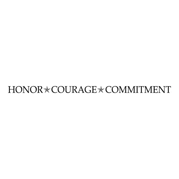 Honor Courage Commitment Vinyl Wall Decal