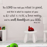 Micah 6v8 Vinyl Wall Decal 7