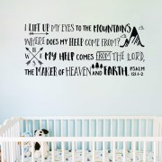 Psalm 121v1-2 Vinyl Wall Decal