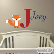 Fox Monogram Vinyl Wall Decal