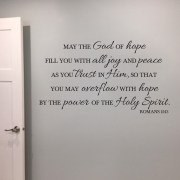 Romans 15v13 Vinyl Wall Decal 3