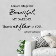 Song of Solomon 4:7 Vinyl Wall Decal