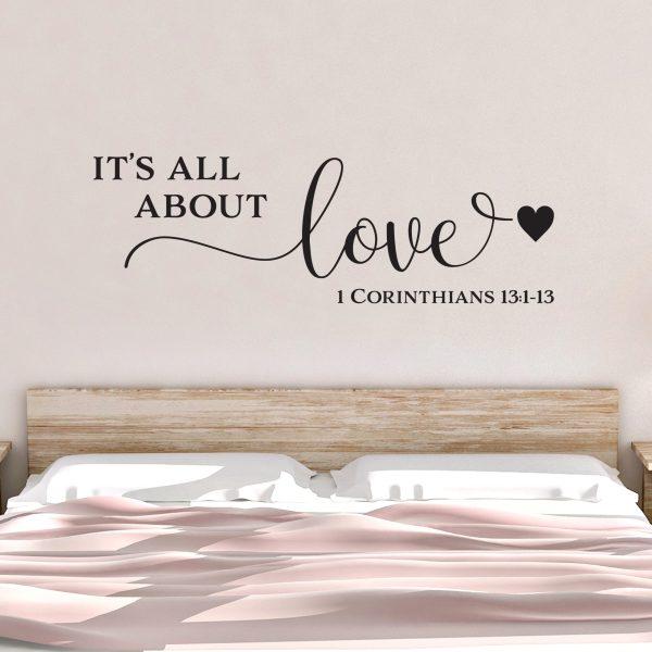 1 Corinthians 13v1-13 Vinyl Wall Decal