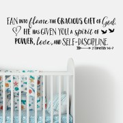 2 Timothy 1v6-7 Vinyl Wall Decal