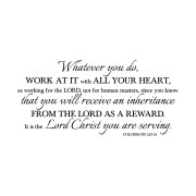 Colossians 3v23 Vinyl Wall Decal 4