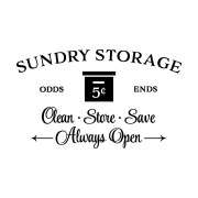Sundry Storage Odds and Ends Vinyl Wall Decal