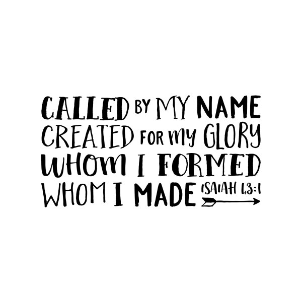 Isaiah 43v1 Vinyl Wall Decal
