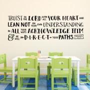 Proverbs 3v5-6 Vinyl Wall Decal 9