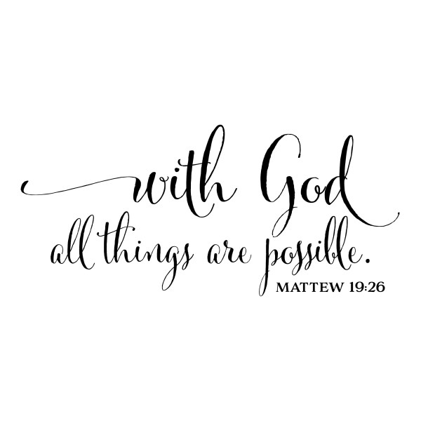 Matthew 19v26 Vinyl Wall Decal 4