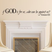Romans 8V31 Vinyl Wall Decal 2,