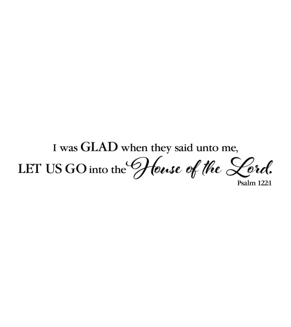 Psalm 122v1 Vinyl Wall Decal