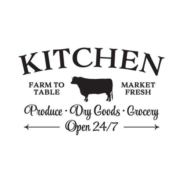Kitchen Farm to Table Market Fresh Vinyl Wall Decal