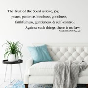 Galatians 5v22 Vinyl Wall Decal 10