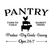 Pantry Farm to Table Market Fresh Vinyl Wall Decal 4