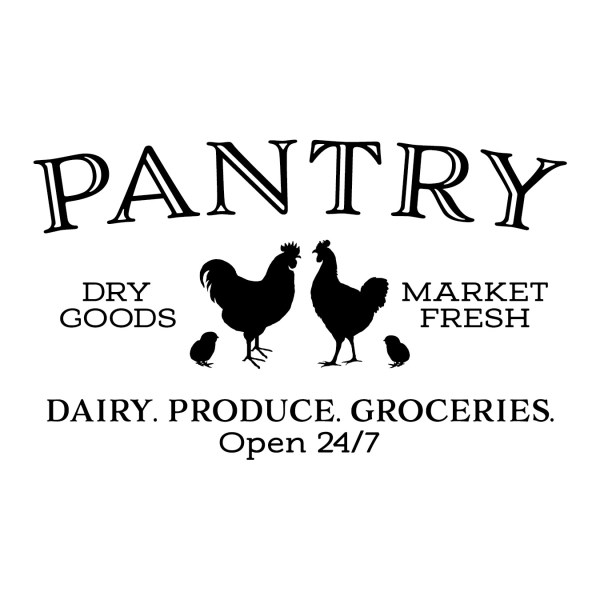 PANTRY Chicken Rooster Vinyl Wall Decal