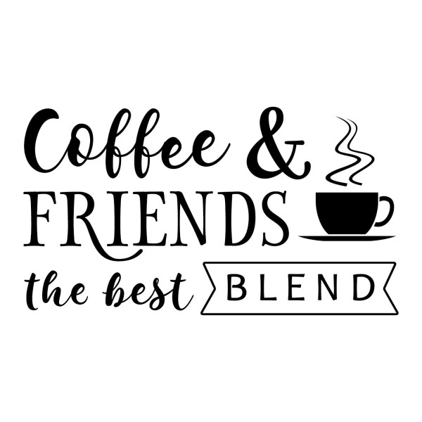 Coffee and Friends Vinyl Wall Decal