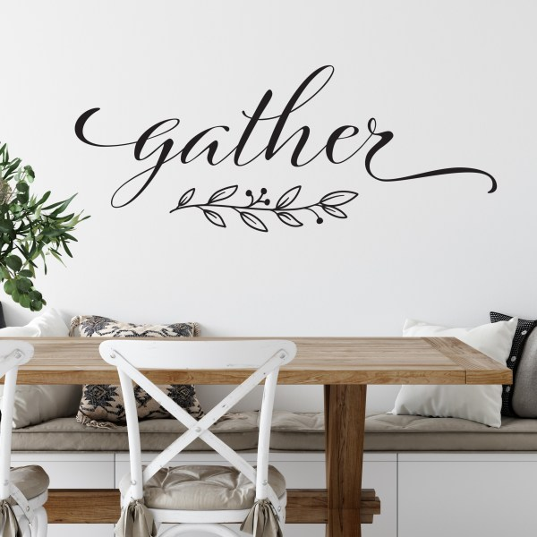 Gather with Leaves Vinyl Wall Decal