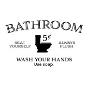 Bathroom with Toilet Vinyl Wall Decal