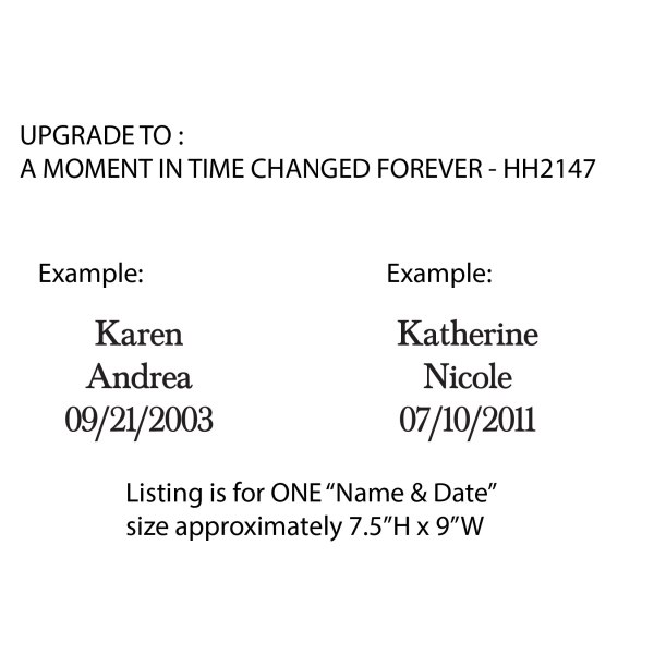 UPGRADE for One—Name + Date Vinyl Wall Decal