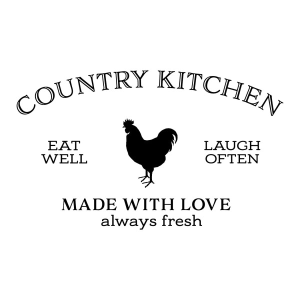 Country Kitchen Vinyl Wall Decal