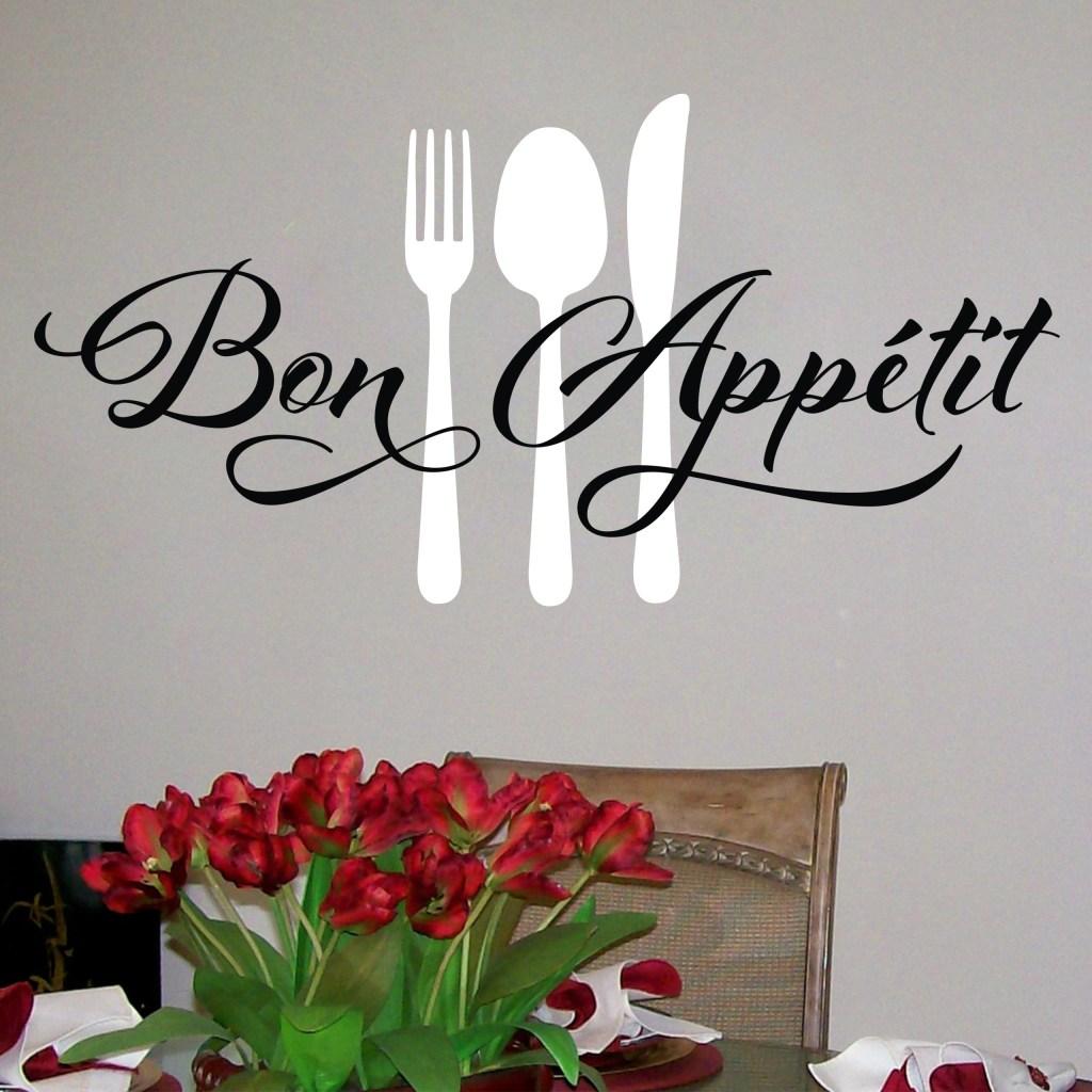 BON APPETIT Fork Spoon Knife Vinyl Wall Decal