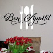 BON APPETIT Fork Spoon Knife Vinyl Wall Decal