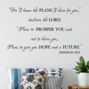 Jeremiah 29v11 Vinyl Wall Decal 32