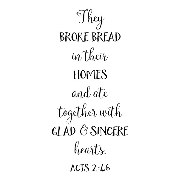 Acts 2v46 Vinyl Wall Decal 3