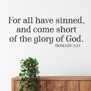 Romans 3v23 Vinyl Wall Decal