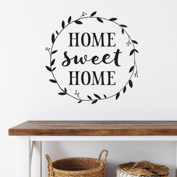Home Sweet Home Vinyl Wall Decal 3