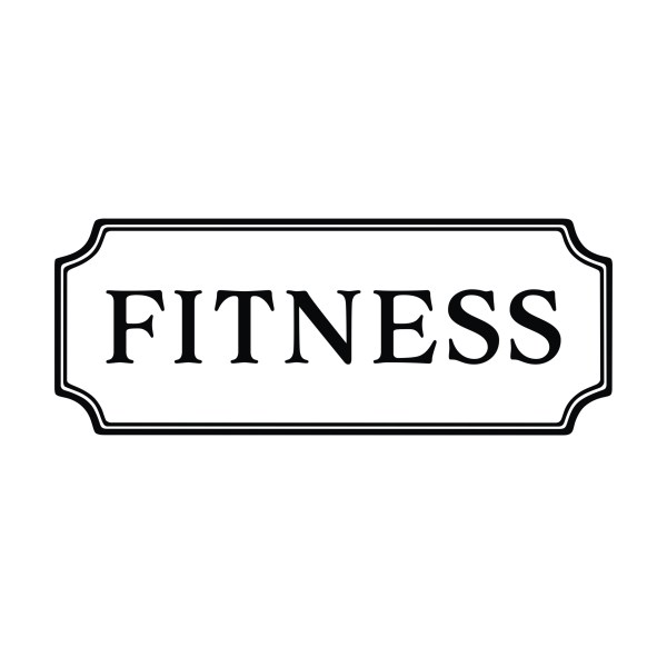 FITNESS Vinyl Wall Decal