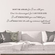 Isaiah 41v10 Vinyl Wall Decal 7