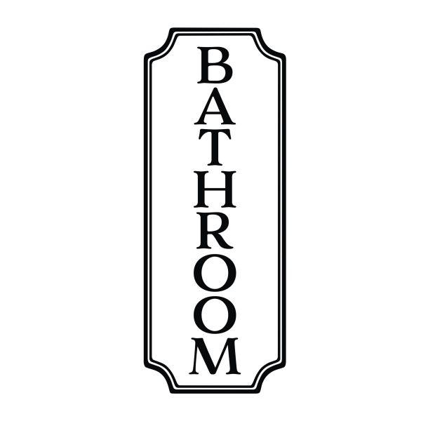Bathroom Sign Vinyl Wall Decal