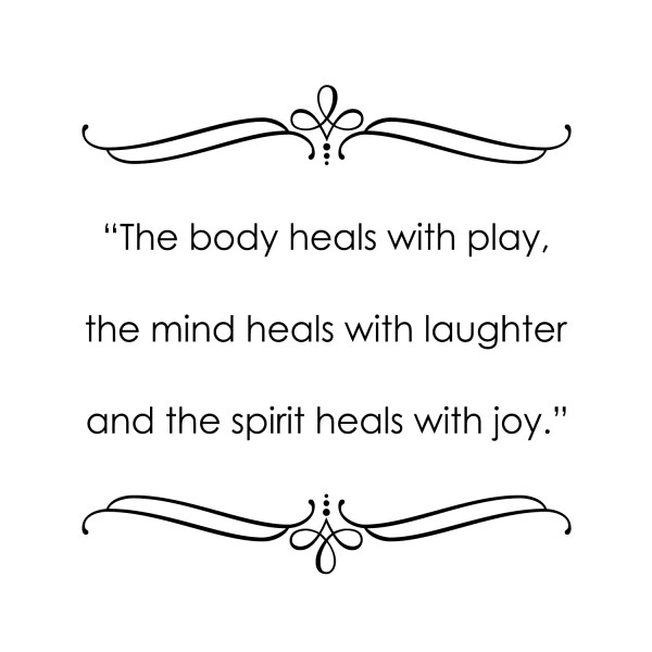 The Body Heals With Play Vinyl Wall Decal