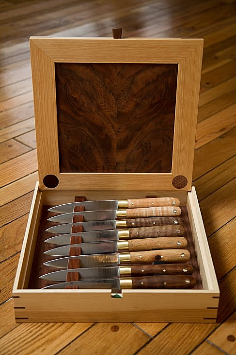 Carbon steel hand made STEAK KNIVES