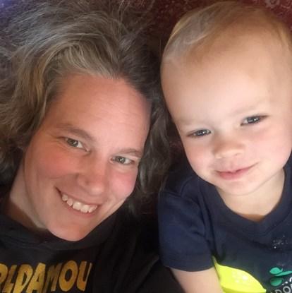 A.Schmidt and her son Erik