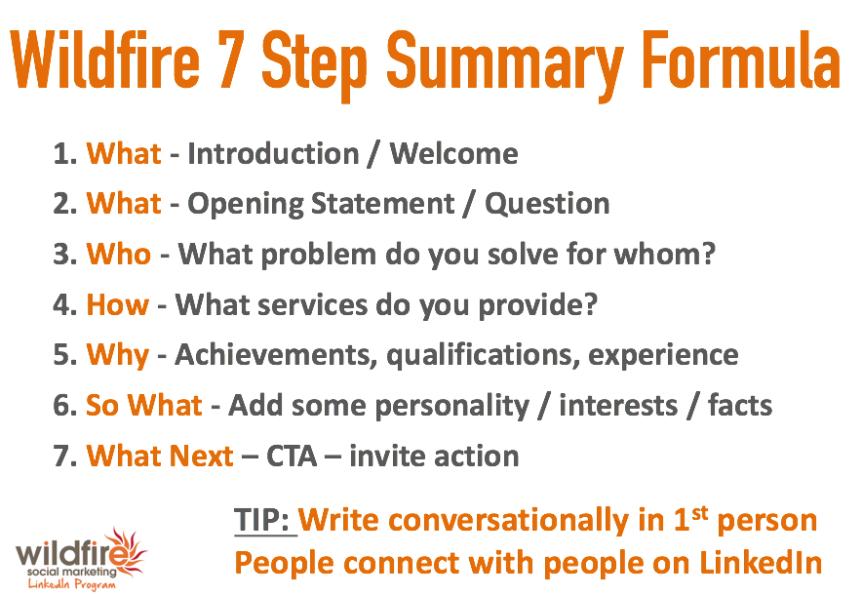 LinkedIn Summary Formula