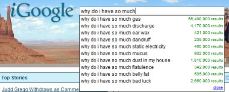 Google search why do I have
