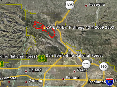 Official Map Of Sheep Fire Wildfire Today