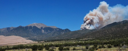 Medano fire Great Sand Dunes National Park